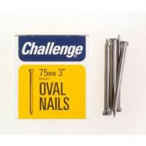 Challenge Oval Wire Nails - Bright Steel (Box Pack) - 75mm